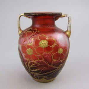 ルグラ サンドニ フランス カメオ ガラス ミニチュア キャビネット 花瓶
