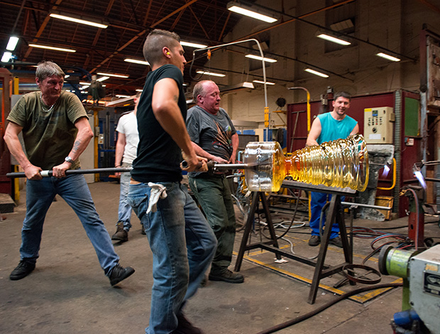 バカラグラスの製造工程3 baccarat