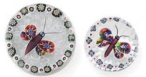 バカラのペーパーウエイト 蝶