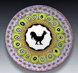 バカラのペーパーウエイト 鶏