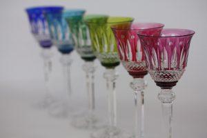 6色のサンルイのグラス
