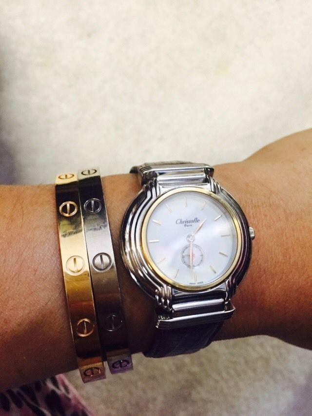 クリストフルの腕時計 実際に使用している画像