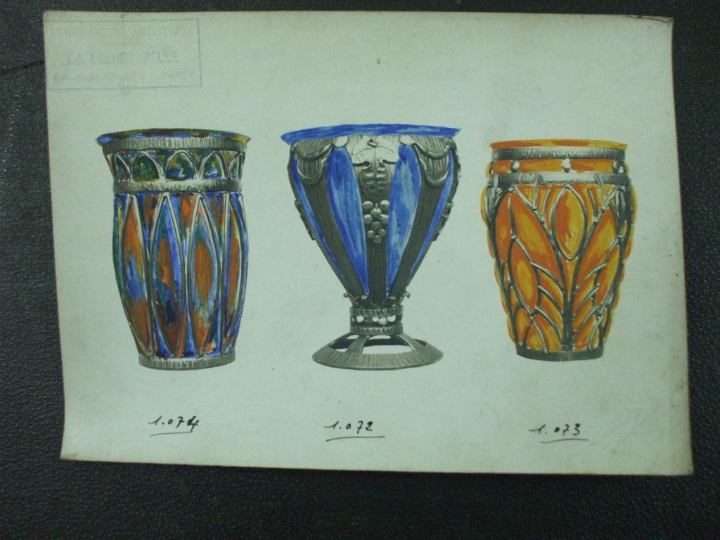ミューラー兄弟がデザインしたブロンズとガラスの直筆紙