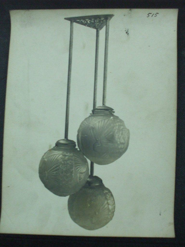 ミューラー兄弟がデザインした朱雀門シャンデリアの直筆紙