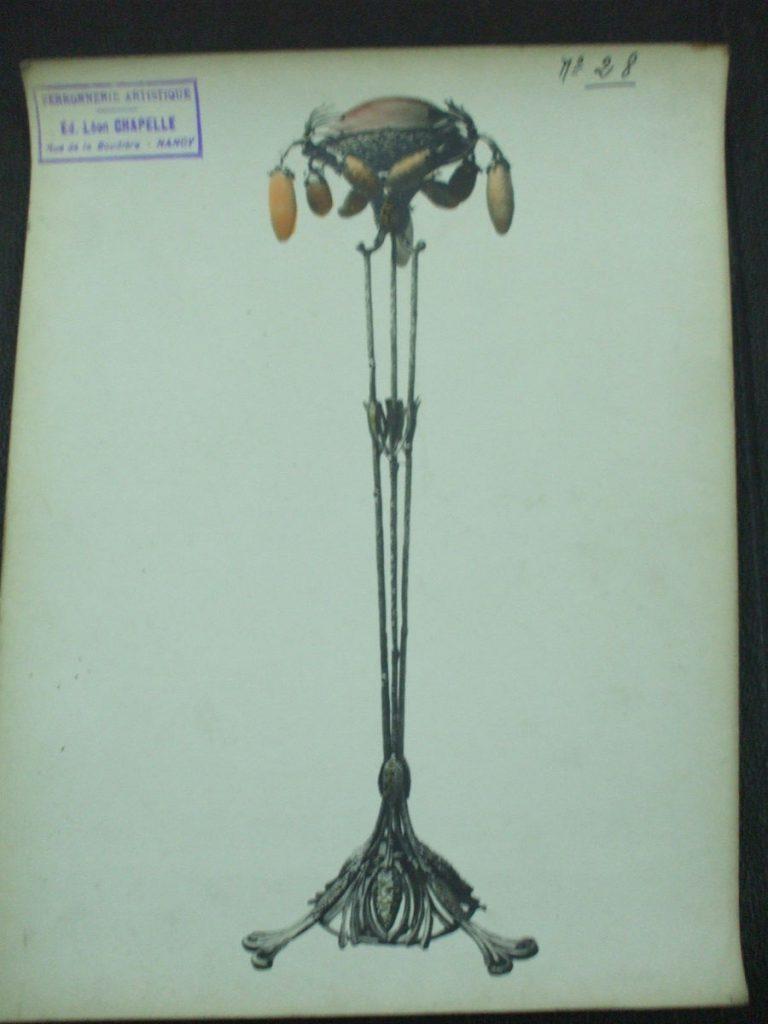 ミューラー兄弟がデザインしたナイトランプの直筆紙