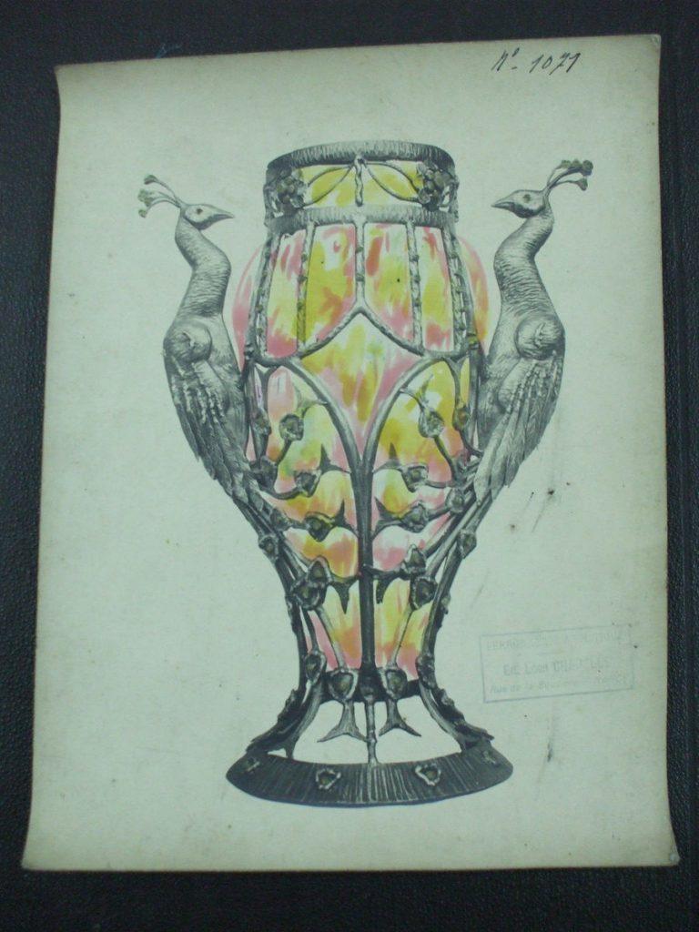 ミューラー兄弟がデザインしたパヒュームランプの直筆紙